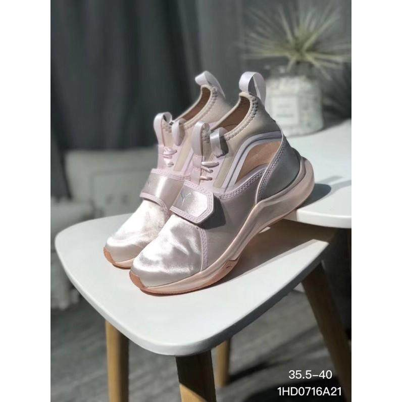 Brand Pumas Phenom Satin EP pink women s casual training shoes sneakers 17a4738914dd