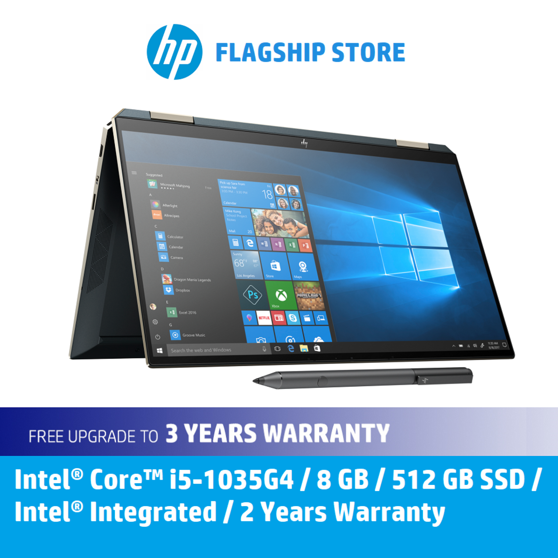 HP Laptop Spectre x360 13-aw0183TU [FREE Upgrade to 3 years Warranty, Backpack & Delivery] Malaysia