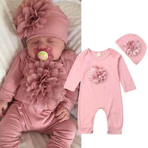 0-2T Infant Baby Girl 3D Unicorn Flannel Romper Jumpsuit Bodysuit Outfit Clothes