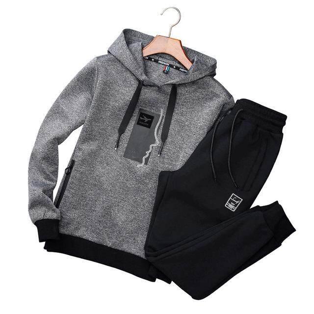 994fd5d39e Men s Sportswear Set Men Active Tracksuits hoodies Sweatshirts sportsuit Men  Sportswear Casual Sport Suit Fashion Sportswear clothing