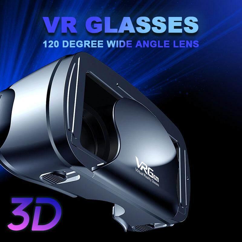 Ontwie 3D VR Kính Vrg Pro Thấu Kính Phi Cầu Gắn Đầu VR Tai Nghe Mắt Kính Thực Tế Ảo 5 ~ 7 inch Điện Thoại Thông Minh Du Lịch Phim Gia Đình Điện Thoại Di Động Tập Trung Điều Chỉnh Đa Chức Năng