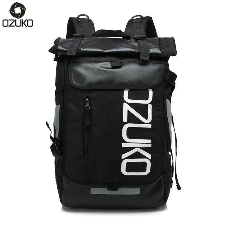 OZUKO Men Fashion Backpack Waterproof 15 Laptop Bag Casual Travel Backpack Women