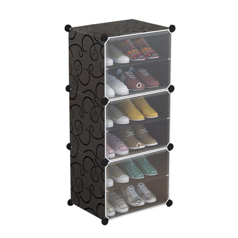 LEDMOMO Portable Shoe Storage Organzier Simple Modular Cabinet Space Saving Shoe Rack Ideal for Shoes Boots Slippers (1 x 6-Tier)