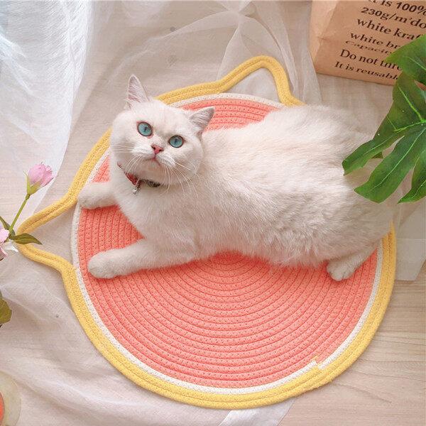 Mèo Chó Bốn Mùa Sáng Tạo Đan Mèo Cào Ban Bưởi Cam Kiwi Trái Cây Mèo Tai Pad Pet Dog Nest Pad