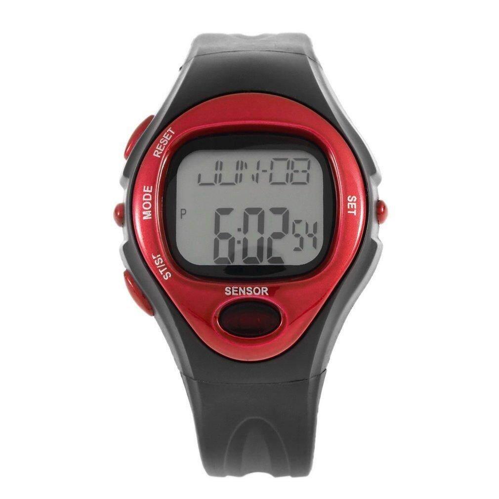 ตัววัดอัตราการเต้นของหัวใจชีพจรนับแคลอรี่นาฬิกาปลุกนาฬิกาจับเวลาเวลาออกกำลังกาย By Allwin2015.