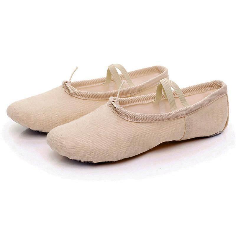 Mã Giảm Giá tại Lazada cho Vải Canvas Mềm Váy Múa Giày Tập Yoga Giày Trẻ Em Bé Gái Nữ Dép Nữ Giày