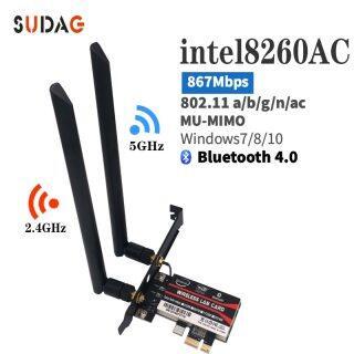 Card Mạng Wifi Để Bàn, Dành Cho Intel 8260AC 8260NGW 867Mbps WiFi + Bộ Chuyển Đổi Không Dây Bluetooth 4.2-AC 8260 WIFI PCI-E 802.11AC thumbnail