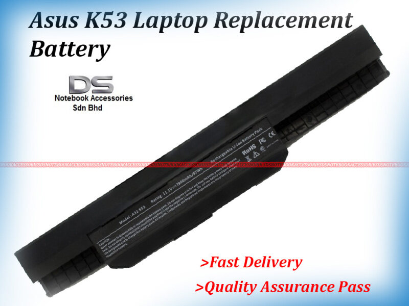 Replacement Laptop/Notebook Asus A43S P43 A43 A32-K43 X43 A31 K53 X53 X44H-VX209 Laptop OEM Battery  / ASUS X44H REPLACEMENT BATTERY Malaysia