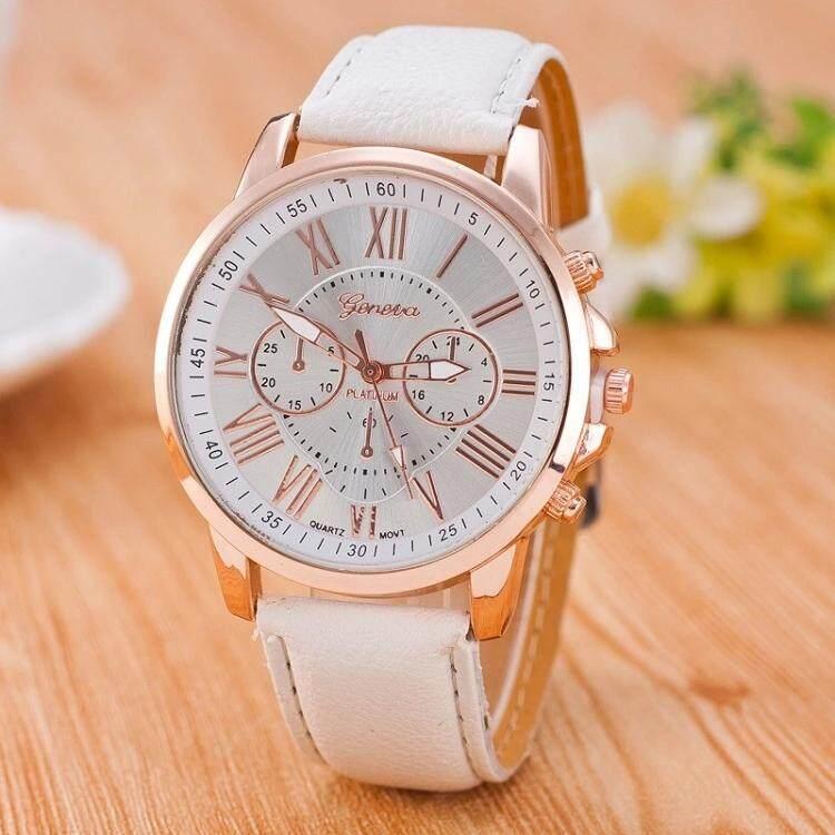 Luxury Brand Leather Quartz Watch Women Ladies Men Fashion Bracelet Wrist Watch Wristwatches Clock relogio feminine masculine Malaysia