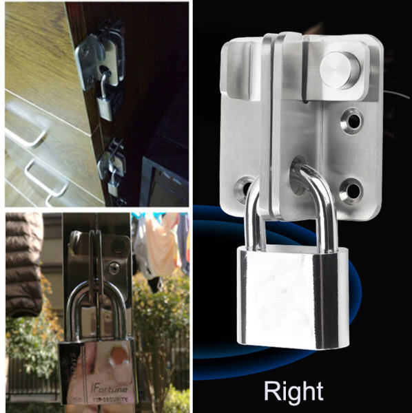Fityle Stainless Steel Door Security Strong Safety Cabinet Lock Guard Catch Latch