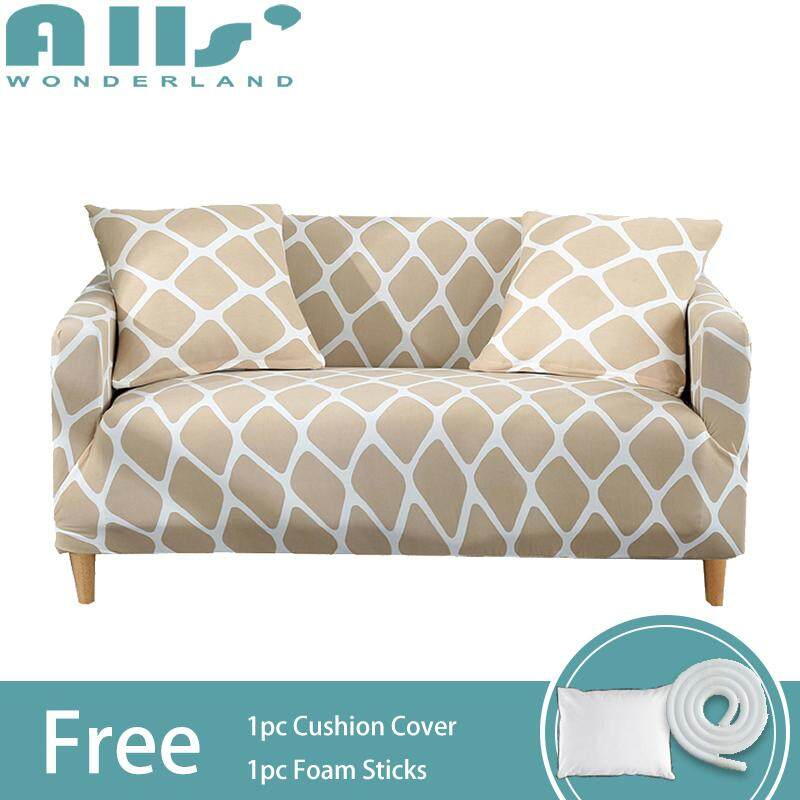 【Slipcover】(2 Seater )Super Elastic Sofa Cover Stretch Sofa Cover 2 Seater Spandex Protector Slipcover Skin-friendly Easy To Install(AGFX)