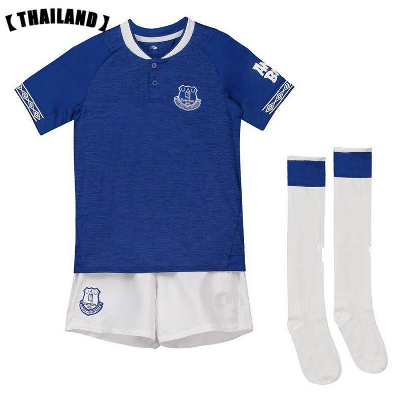 b0036180 (3-18years) 2019 New Season Everton Home and Away Football Jersey Top  Quality