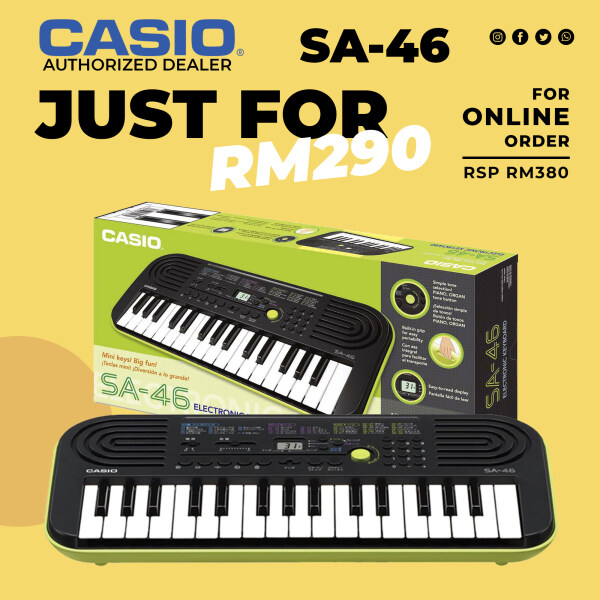 Casio SA-46 Portable Mini Keyboard For Beginners For Kids Malaysia