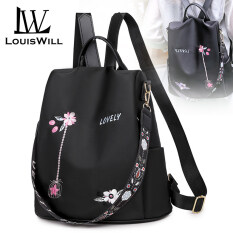 LouisWill Women Backpack Korean School Backpacks Fashionable Ladies Backpack Casual Simple Student Bags Laptop Backpacks Lightweight Anti-theft Backpacks