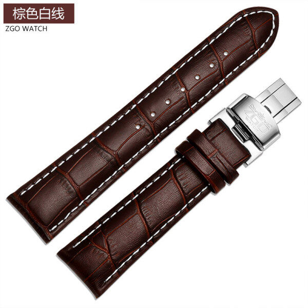 Longines Tiansuo Meidu Titus Watch Band Mens Genuine Leather Butterfly Clasp Bracelet Accessories18 19 20mmFemale Substitute Malaysia