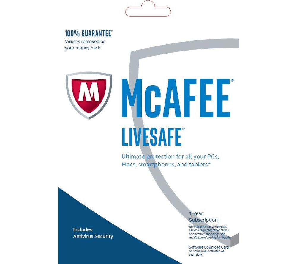 McAfee LiveSafe 2019 For 5 years 3 PC/Mac Download
