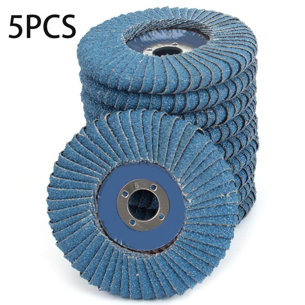 5PCS 4in Zirconia Abrasive Flap Disc Radial Shape Sanding Wheel Set Sander Parts