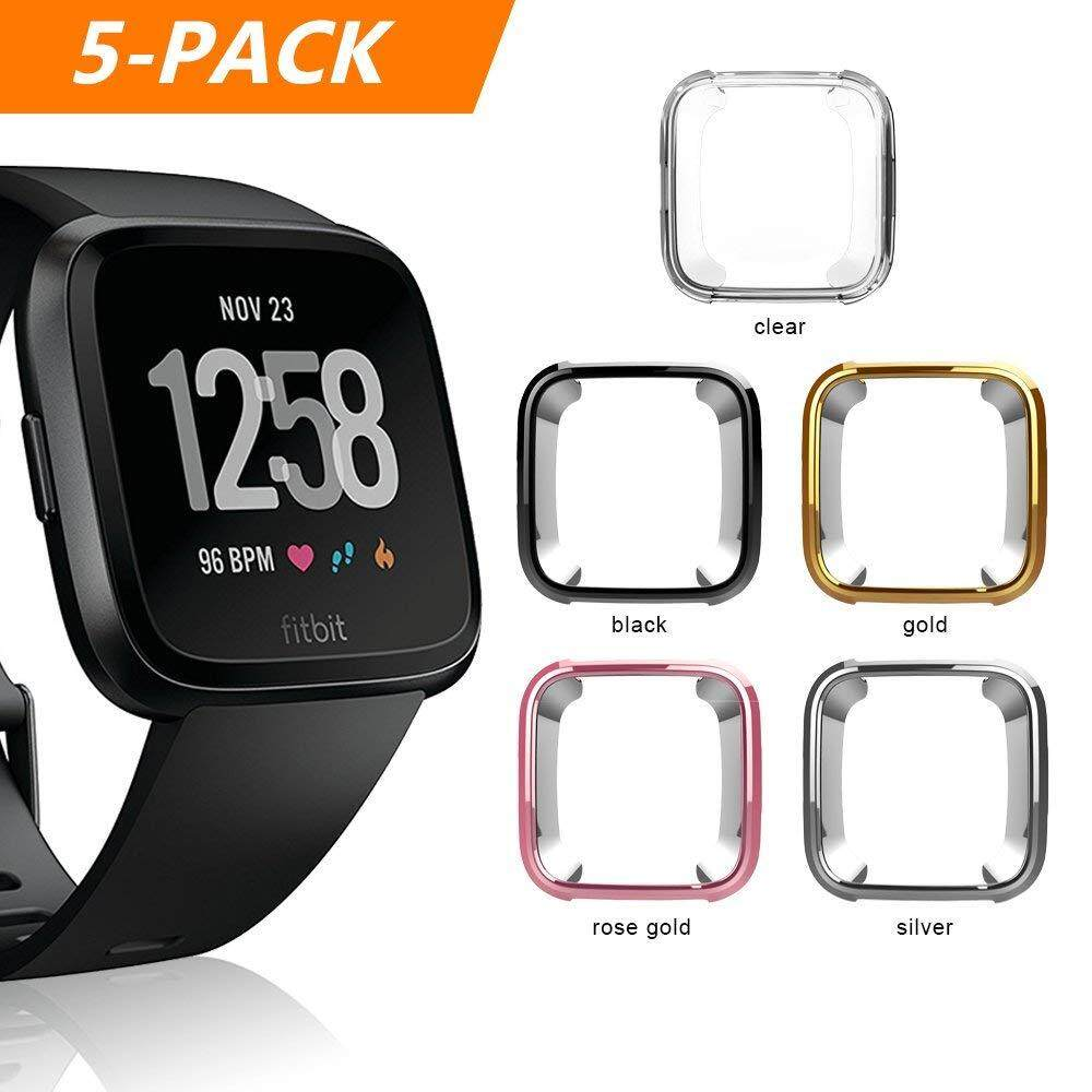 [5 Pack] Soft Tpu Case For Fitbit Versa Smart Watch , Replacement Soft Silicone Protective Cover For Fitbit Versa Smart Watch By Choi Ting Store.