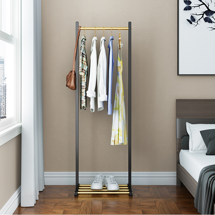 Nordic Style Bedroom Hanger Floor Dormitory Coat Rack Clothes Rack Horizontal Bar Home Simple Drying Rack