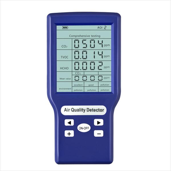 Máy đo CO2 ppm đa chức năng Máy đo lượng khí thải carbon nhỏ Phân tích khí Máy kiểm tra chất lượng không khí có thể bảo vệ
