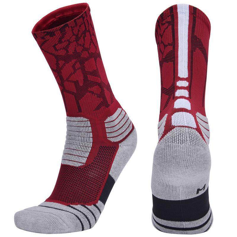 1pair Mens Basketball Longsocks Sweat-Absorbent Boys Breathable Sports Socks By Benrisstore.