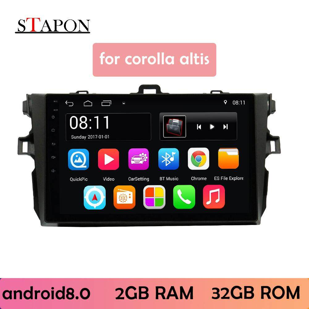 Stapon 9inch 2.5d For Toyota Corolla 2007-2013 Android8.1 2g Ram Car Head Unit Plug And Play Navigation Player With Wifi Bluetooth Gps Steering Wheel Control Rear View 9020a By Stapon Electronic Store