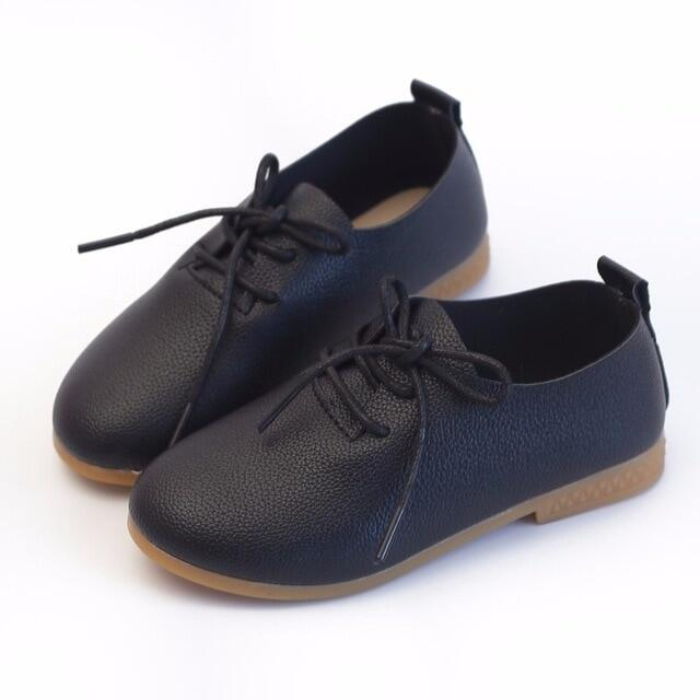 Giày Da Bé Gái Trẻ Tập Đi Xinh Xắn 2020, Giày Đi Học Nam Trang Trọng, ĐầM Dạ TiệC Buộc Dây Cho Học Sinh Dành Cho Trẻ Em D02153