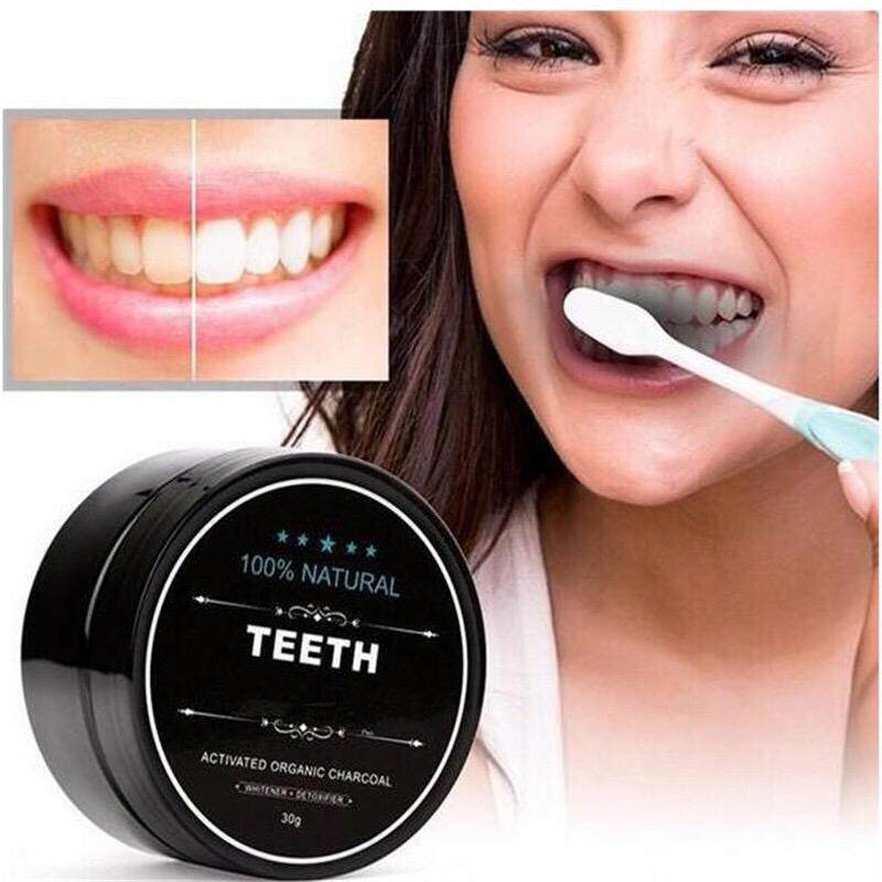 【readystock】teeth Whitening Powder Organic Charcoal Bamboo Amour Natural By Jpro_online.