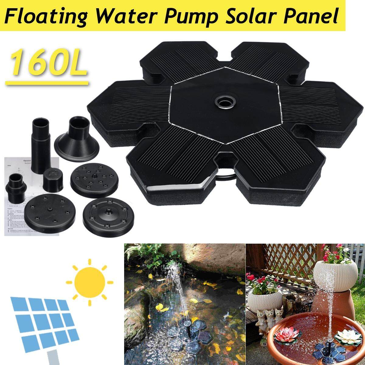 160L Floating Water Pump Solar Panel Garden Plants Watering Power Pool Fountain