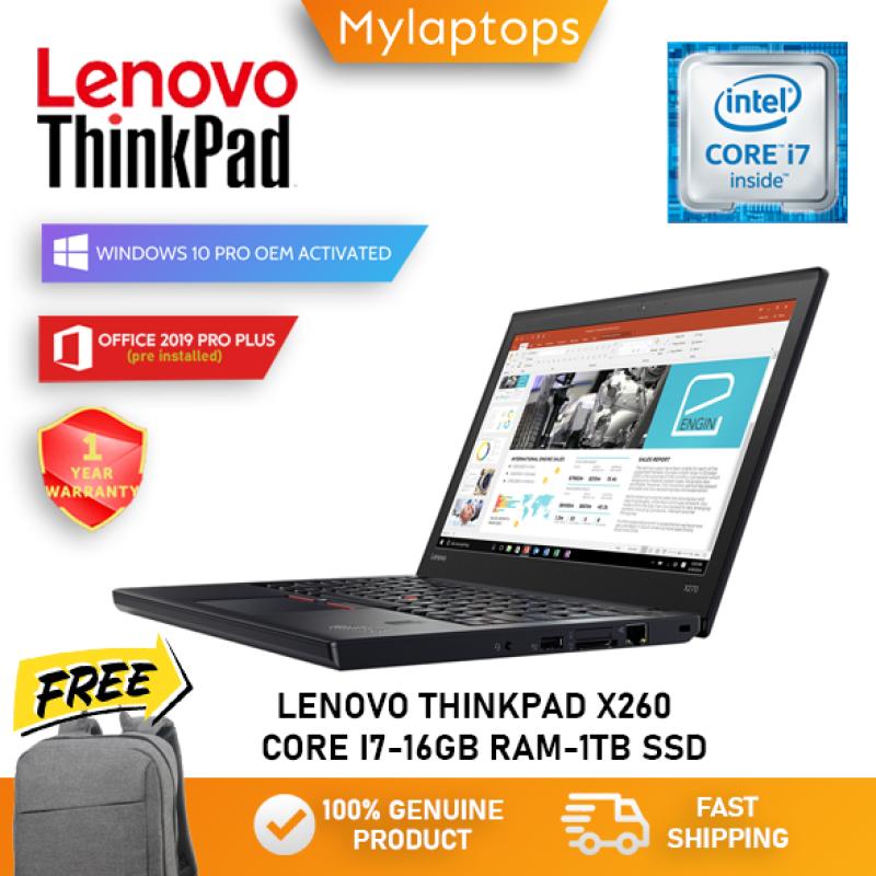 LENOVO THINKPAD X260 [ i7-6TH GEN /UP TO 16GB RAM / 512GB SSD ] FINGERPRINT / HDMI / WINDOWS 10 PRO Malaysia