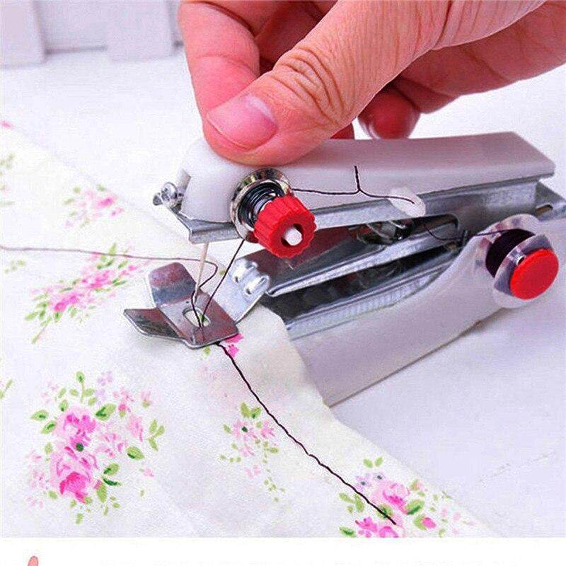 Portable Mini Multifunction Home & Travel Portable Cordless Hand-held Sewing Machine Color Random