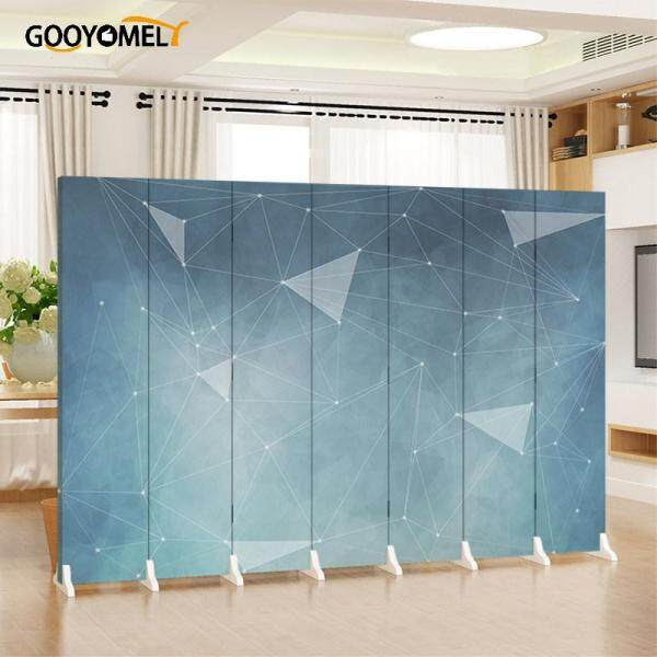 Gooyomely 6 Pcs Nordic Screen Partition Wall Living Room Bedroom Cover Simple Modern Mobile Folding Sliding Simple Solid Wood Divider/Partition/Screens 180X240cm