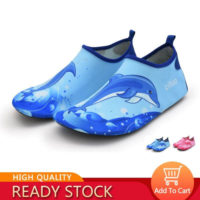 Ocean Childrens Baby Portable Sports Beach Snorkeling Diving Non-Slip Swimming Barefoot Skin Soft Soled Shoes Shoes Dolphins By Ocean Shopping Mall.