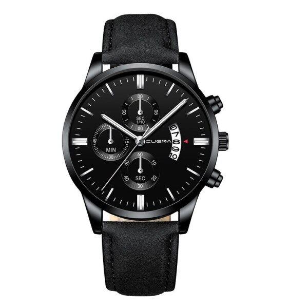 2020 Watch Men Military Fashion Luxury Leather Strap Business Mens Clocks Calendar Quartz Wrist Watch Reloj Hombre Drop Shipping Malaysia