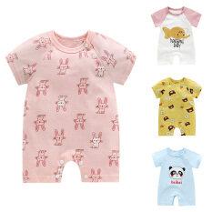 Áo liền quần một mảnh I Love daddy & Mummy cho bé, áo liền quần bằng cotton cho bé trai và bé gái sơ sinh, Bộ đồ liền thân dễ thương tay ngắn
