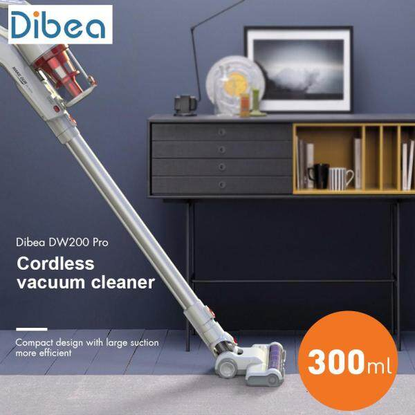 【100% Original】Dibea DW200 Pro 2 in 1 Handheld Stick Cordless Vacuum Cleaner Advanced Strong Suction Dust Collector With Wall Hanging Rack Singapore