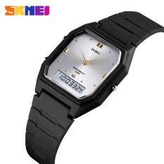 SKMEI Đồng hồ nữ casual Đồng hồ thời trang kỹ thuật số,Mặt số nhỏ,không thấm nước 1604BKBK
