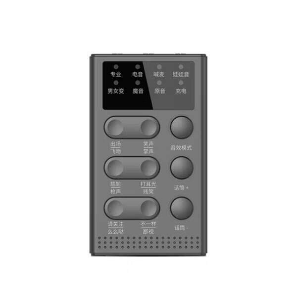 Hy Baru Telepon Seluler Variator Laki-laki Ke Perempuan Jangkar Palsu Lori Royal Adik Suara Headphone Suara dan WeChat Merangsang Permainan Medan Perang makan Ayam Variator Software Kartu Suara Android Apple Setelan Universal (D610, hitam)