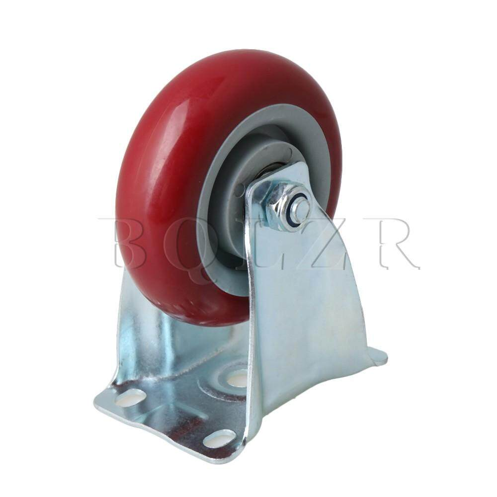 Galvanized Iron Single Axis Directional Caster for Flatbed Truck Car Trolley Red