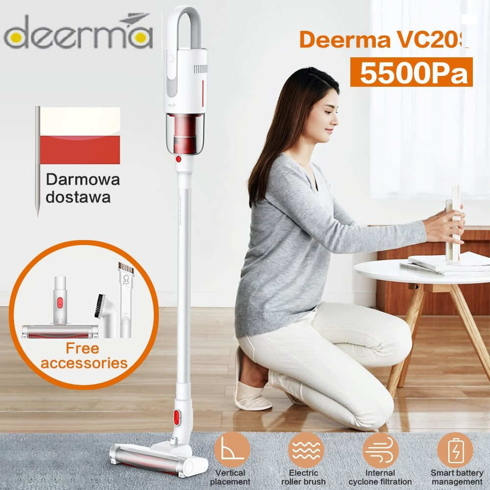 2020 New Deerma Vc20 Vacuum Cleaner Auto-Vertical Handheld Cordless Stick Aspirator Vacuum Cleaners 5500pa For Home Car.