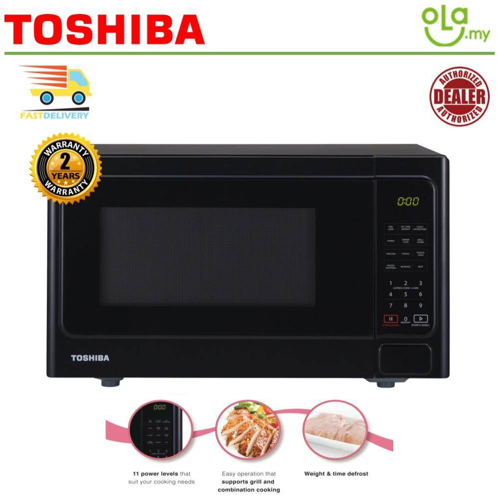 Toshiba 9 Auto Menu Microwave With Grill ER-SGS25 25L (2 Years Warranty)