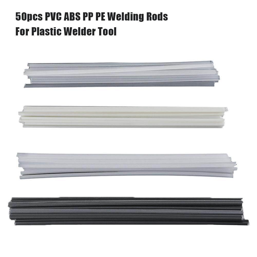 PER Plastic Welding Rods Bumper Repair ABS/PP/PVC/PE Welding Sticks Welding Soldering Supplies 50Pcs