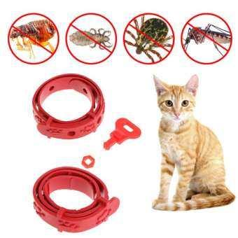 สีแดงปรับสุนัขสายคล้องคอแมวกำจัดเห็บหมัด MITE Acari Tick Remedy ปลอกคอสัตว์เลี้ยง PET Supplies ฤดูร้อนผลิตภัณฑ์-