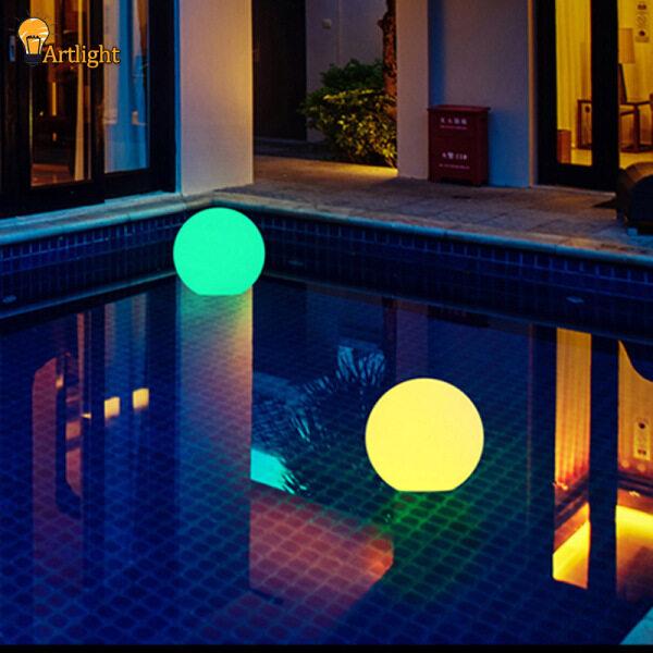 Bóng Đèn LED Năng Lượng Mặt Trời, Đèn RGB Đổi Màu/Ổn Định Đèn Trang Trí Sân Vườn Hồ Bơi Có Thể Sạc Lại