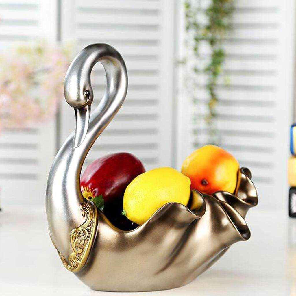 BolehDeals Decorative Resin Swan Shaped Dessert Candy Plate Candy Snack Dry Fruit Dish