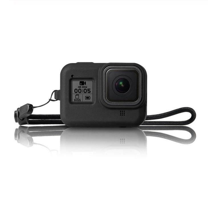 Giá VD Camero Ốp Lưng Bảo Vệ Cho Gopro Hero 8 Camera Hành Động Silicone Mềm Toàn Thân Bảo Vệ Lưu Trữ Bao