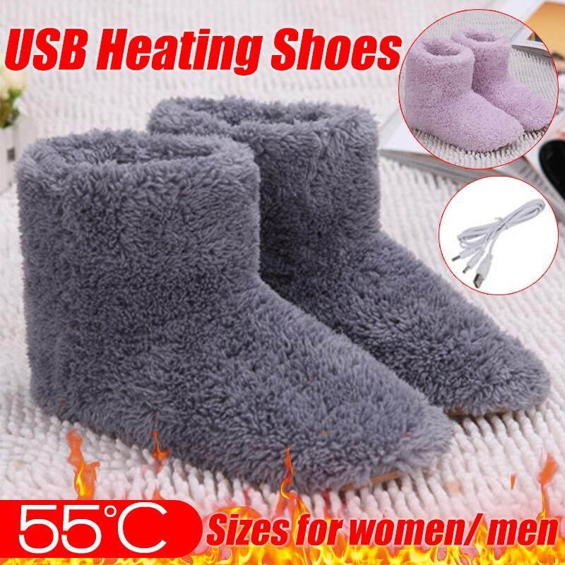 【free Shipping + Flash Deal 】winter Usb Warmer Foot Shoes Plush Warm Electric Slipper Feet Heat Washable By Freebang.