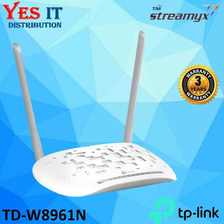 Tp Link Td-W8961n 300mbps Wireless Router Modem (oem Pack) By Yes It Distribution.