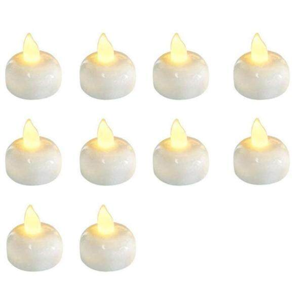 12 Pcs Waterproof Flameless Floating LED Candles Floating Tealights Pool Lights Battery Flickering LED Tea Lights Candles