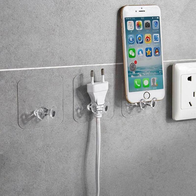 Jayoiy 3/10pcs Power Cord Holder Plug Socket Hook Hanger Wall Sticker Home Decal Organizer Storage Racks for Kitchen Office Living Room